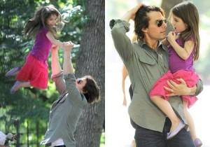 Tom Cruise e Suri Cruise protagonizaram momentos de pai e filha mais do que fofos em NY.