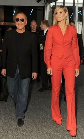 Michael Kors and Heidi Klum: together on the first day of NYFW