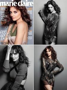 "Katie Holmes está linda na capa da ""Marie Claire"" norte-americana."