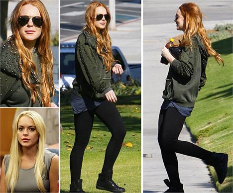 Lindsay Lohan é a mais nova ruiva do pedaço.