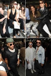 A primeira fila do desfile do estilista Alexander Wang foi uma das mais disputadas até agora na Semana de Moda de Nova York.