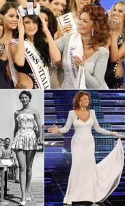 Sophia Loren chamou a atenção do público que estava no Miss Itália que aconteceu na cidade de Salsomaggiore Terme, nessa segunda-feira.