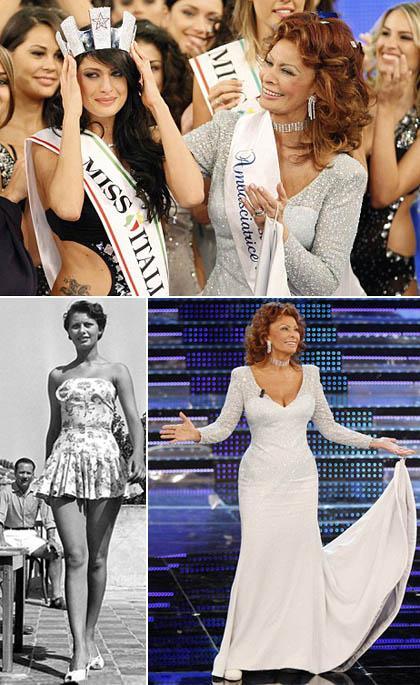 Sophia Loren no concurso Miss Itália: participação especial