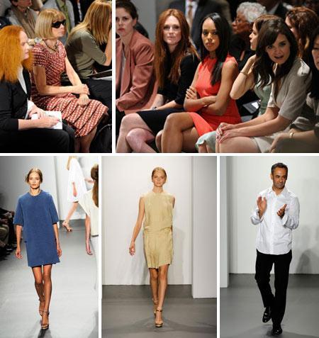 Anna Wintour and Carine Roitfeld plus Franca Sozzani shone more in the front row of the Calvin Klein show