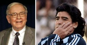 Jantares com Maradona e Warren Buffett são leiloados na China.