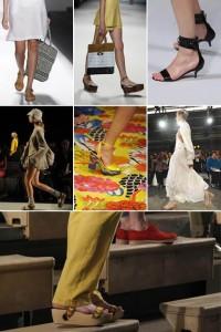 """O portal de tendências """"WWD"""" aponta uma mudança radical nos sapatos femininos para o verão 2011."""