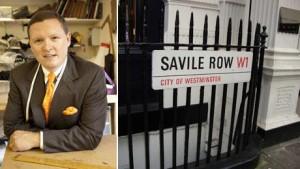 Rua Savile Row, em Londres, tem competição de designers de ternos.