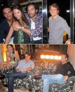 Raquel Silveira abriu o apartamento para os amigos na noite dessa quinta-feira.