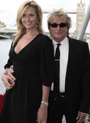 Rod Stweart e Penny Lancaster: mau pagador