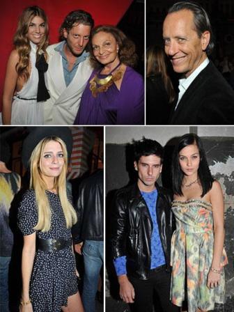 Bianca Brandolini, Lapo Elkann e Diane von Furstenberg, Richard Grant, Mischa Barton, Geordon Nicol e Leigh Lezark: celebrating the designer's legacy