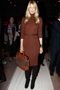 Claudia Schiffer acaba de anunciar que vai criar uma coleção de roupas para o inverno 2010/11.