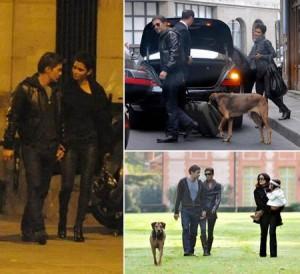 Halle Berry e Olivier Martinez passeiam por Paris.