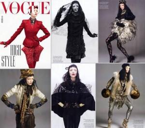 """Mariacarla Boscono é destaque da """"Vogue"""" italiana de outubro."""