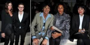Primeira fila da Givenchy estava estrelada.