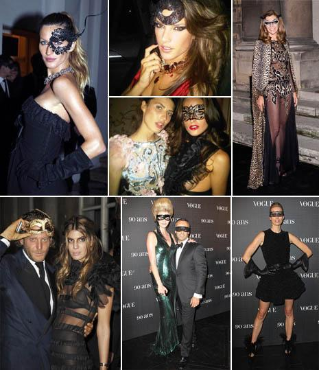 Gisele Bundchen, Alessandra Ambrosio, Michelle Alves, and Izabel Goulart, Carine Roitfeld, Lapo Elkann and Bianca Brandolini, Lara Stone with Francisco Costa and Karolina Kurkova: night for a lucky few