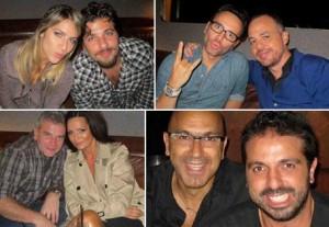 Rafael e Tico Sahyoun comandaram uma mesa das mais animadas no Número nessa terça-feira.