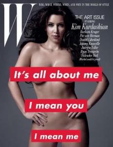 Stefano Tonchi coloca Kim Kardashian na capa da W.