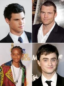 Os atores jovens estão dominando as bilheterias dos cinemas.