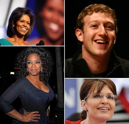 Michelle Obama, Mark Zuckerberg, Oprah Winfrey e Sarah Palin: alguns dos chefes mais desejados dos Estados Unidos