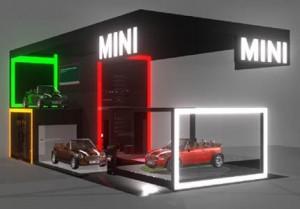 Vem ver espaço que a BMW Group Brasil armou para o Salão do Automóvel.