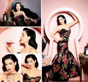 Dita Von Teese está linda (pra variar) na nova campanha da Cointreau