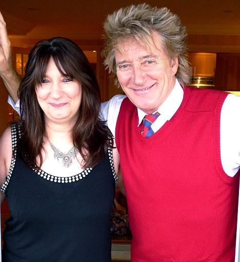 Sarah e Rod Stewart: cara de um...