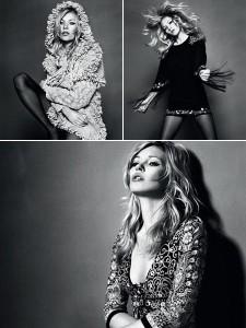 A Topshop acaba de liberar três imagens da última coleção da Kate Moss!