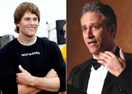 Tom Brady e Jon Stewart: no topo da lista