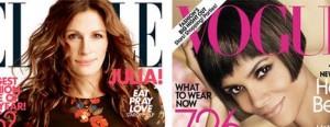 As edições de setembro de algumas revistas de moda do hemisfério norte não venderam nem a metade do esperado.