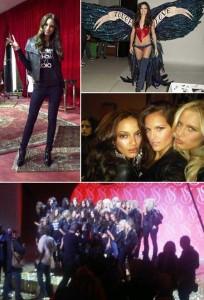 @mamazzafera mostrou pra gente o backstage do desfile da Victoria's Secret.