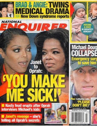 """Capa do """"National Enquirer"""": a briga promete ser feia"""