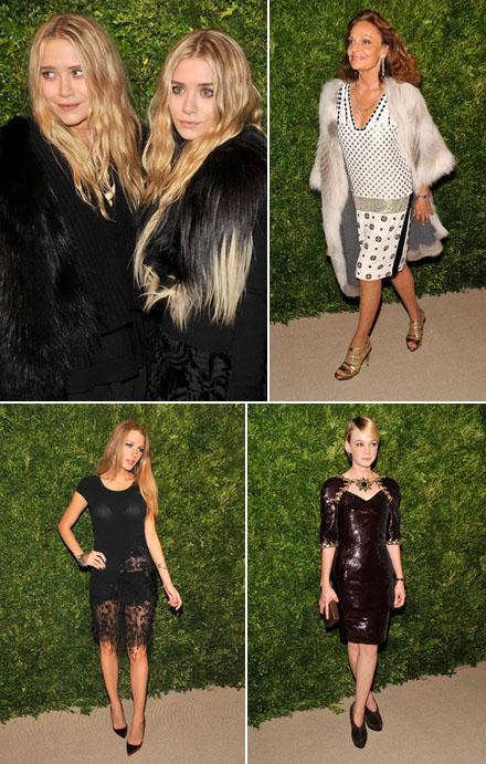 Ashley e Mary-Kate Olsen, Diane von Furstenberg, Blake Lively e Carey Mulligan: no CDFA Fashion Fund Awards