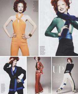 Raquel Zimmermann ficou ruiva para a Vogue norte-americana