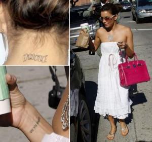 Procura-se um expert em remover tatuagens. Eva Longoria está precisando!