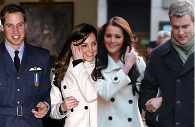 William com Kate Middleton e Kate Bevan com Mark Rattigan: idênticos ou apenas parecidos?