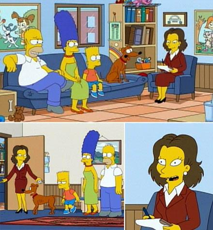 "Rachel Weisz: pontinha do seriado ""Os Simpsons"" como terapeuta familiar"