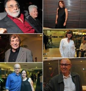 Hector Babenco e Bruno Barreto foram tietar o Coppola, ontem.