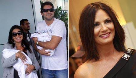 Giovanna Antonelli e Leonardo Nogueira com as filhas e Luiza Brunet: fim de ano tranquilo