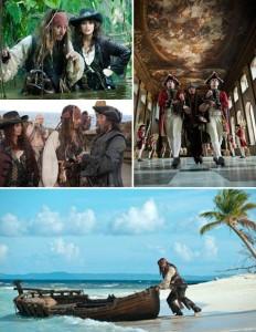 """As primeiras fotos de """"Piratas do Caribe 4"""" mostram que Jack Sparrow faz o filme."""