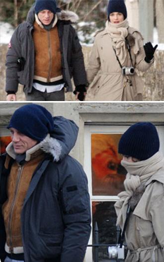 Daniel Craig e Rachel Weisz na Inglaterra: Natal bem juntinhos