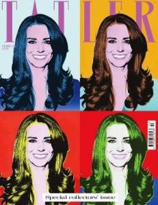 Kate Middleton agora é pop art
