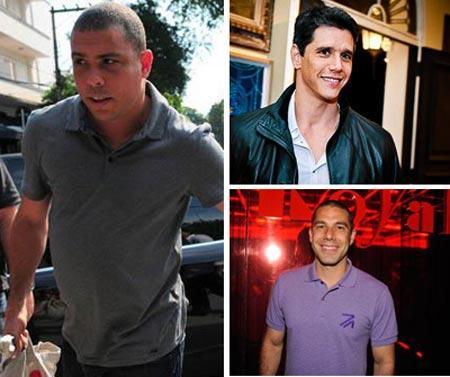 Ronaldo, Márcio Garcia e Marcus Buaiz: trio parada dura