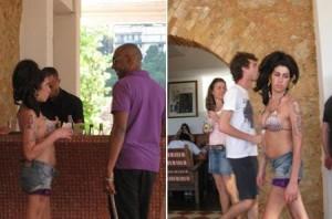 Amy Winehouse está dando exemplo de boa conduta no Hotel no Rio.
