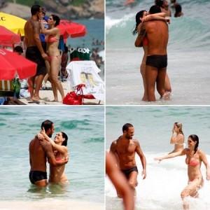 Paula Lavigne aproveita muito bem a praia de Ipanema com o namorado bonitão.