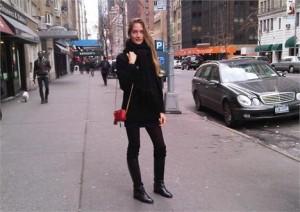 A Schynaider Garnero que mostrou pra gente o look dela hoje, diretamente de NY, vem ver