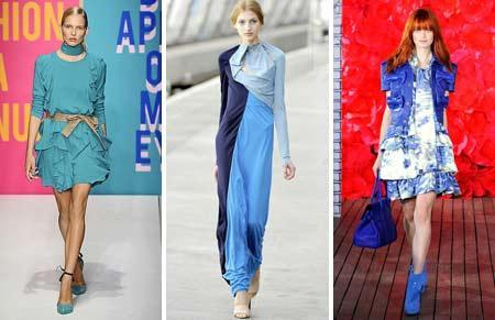 DKNY, Peter Pilotto and Mulberry: blue skies