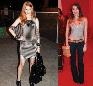 Marina Franco e Fabíola Cabral: roupas e ótimos hábitos