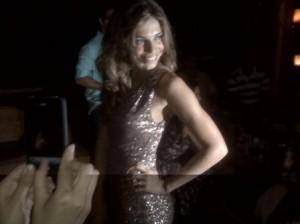 Look da Grazzi na festa da @elsevebrasil – vestido de paetê! Toda linda!