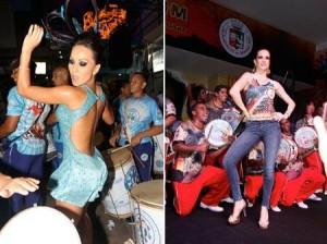 Vem ver @sabrinasatoreal e Ana Furtado caindo no samba