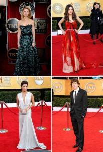 Várias estrelas no tapete vermelho do SAG Awards, em LA. Vem ver!